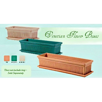 Flowerbox/Venetian Style - Clay Color  - 24""