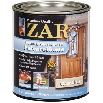 Buy the ugl 32612 quart gloss exterior water based polyurethane hardware world for Zar exterior water based polyurethane