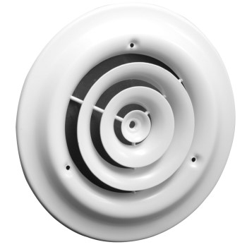 Round Ceiling Diffuser, White  ~  6 inch
