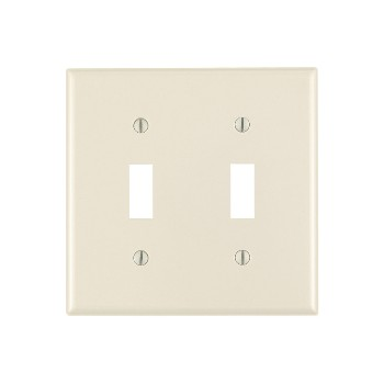 Double Switch Plate ~ Light Almond