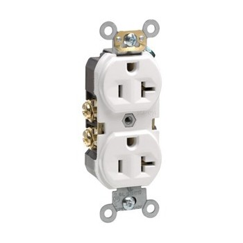 Commercial Grade Duplex Receptacle - 20 Amp ~ White