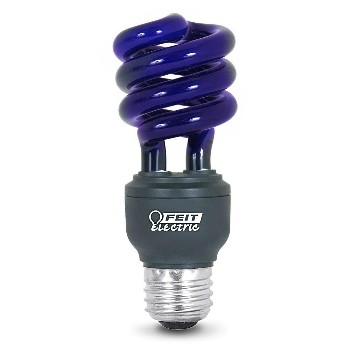 Compact Fluorescent Light Bulb, Black Light Twist/15w