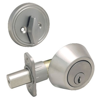 Single Cylinder Deadbolt, Satin Nickel ~ KA3
