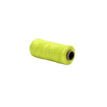 Opti-Brite Lime Yellow Twisted Nylon Seine Twine, #18 x 250'
