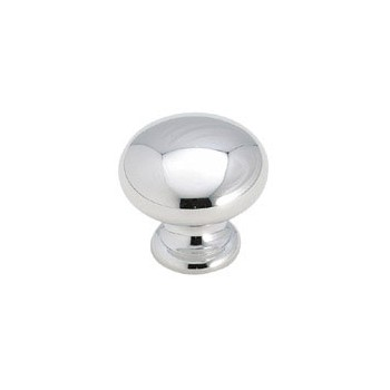 Knob - Polished Chrome Finish - 1.25 inch