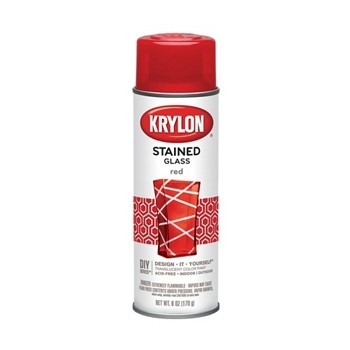 buy the krylon k09020 stained glass paint spray red. Black Bedroom Furniture Sets. Home Design Ideas