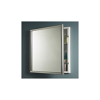 Recessed Bathroom Cabinet on Harmony Aluminum Finish Single Recessed Bath Cabinet At Hardware World