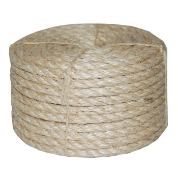 "Sisal Rope,  3-Strand ~ 1/2"" x 665 Ft"