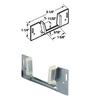 Pocket door bottom glide hardware