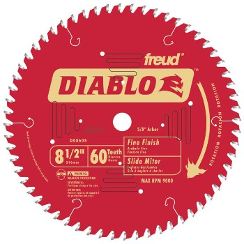 Finish Blade, 60T 8-1/2 Inch