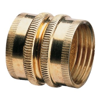"Double Female Swivel Brass Connector -  3/4""  NH x 3/4""  NH"