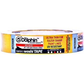 "Blue Dolphin Painter's Washi Tape ~ 1.88"" x 54.6 Yds"