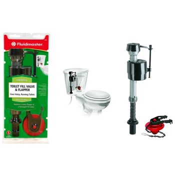 Buy The Fluidmaster 400CRP14 Toilet Fill Valve Flapper Universal Ha