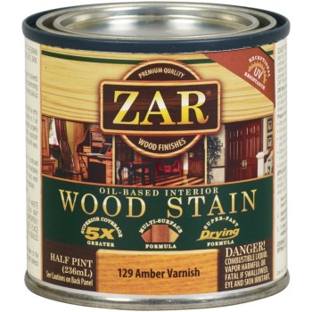 Wood Stain, 1/2 Pint - Amber