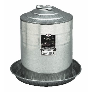 Poultry Waterer, Galvanized ~  Five Gallon Capacity