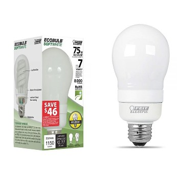 EcoBulb CFL Light Bulb, 23 Watt ~ 75 Watt Equivalent