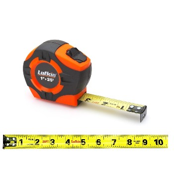 "Measuring Tape, Hi-Viz Orange ~ 1"" x 25 ft"
