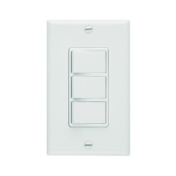 Heater, Vent and Light Switch - White