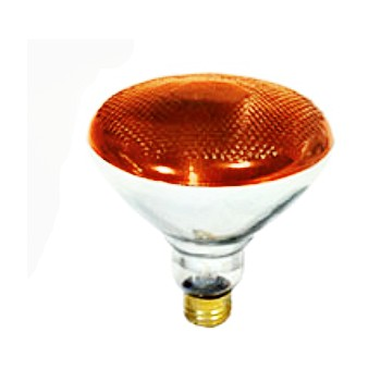 Colored Floodlight, Amber 120 Volt 100 Watt