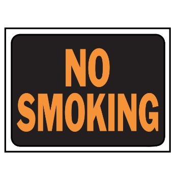 No Smoking Sign, Plastic 9 x 12 inch