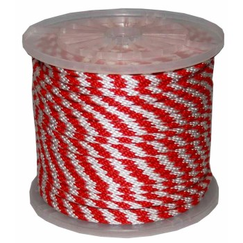 "Derby MFP Rope, red/white, 3/8 "" x 300 feet."