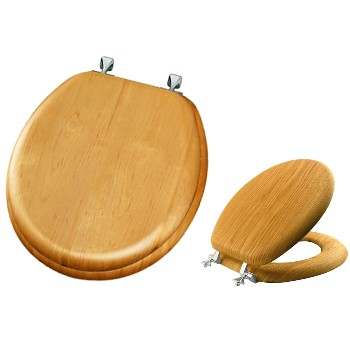Toilet Seat, Natural Oak Veneer/Round
