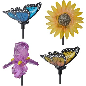 LED Flower & Butterfly Stake Lights, 30""