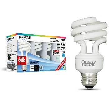 CF Light Bulb, Mini-Twist Daylight ~ 18 Watt