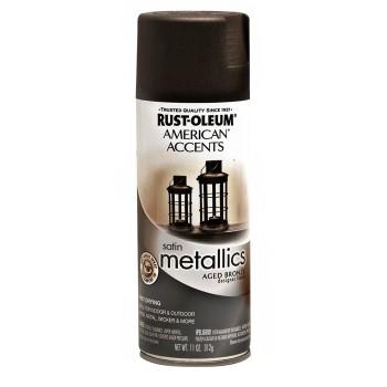 buy the rust oleum 202646 designer metallics spray aged bronze 12 oz hardware world. Black Bedroom Furniture Sets. Home Design Ideas