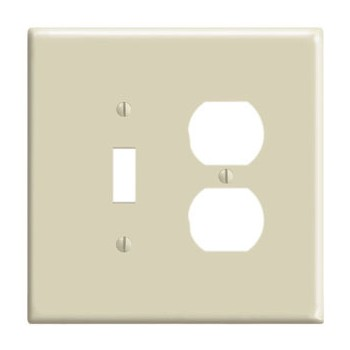 Toggle Switch and Duplex Outlet Combination Wall Plate ~ Ivory