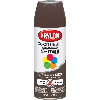 paint finishes krylon brand spray paint gloss leather brown. Black Bedroom Furniture Sets. Home Design Ideas