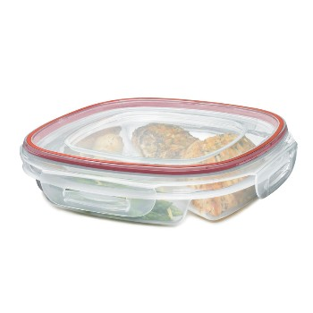 Rubbermaid Lock-Its 3 Compartment Food Storage Container