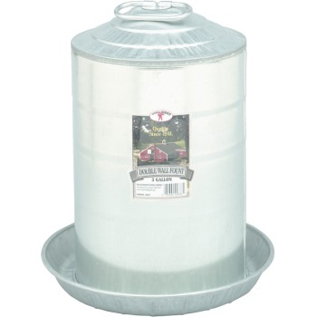 Poultry Waterer, Galvanized ~  Three Gallon Capacity