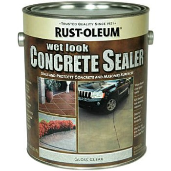 Buy The Rust Oleum 239416 Concrete Sealer Wet Look Gloss Clear Gallon Hardware World