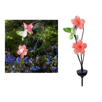 Solar  Hummingbird Stake LED Light