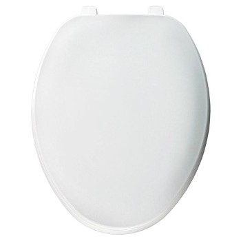 Toilet Seat - Plastic/Elongated/White
