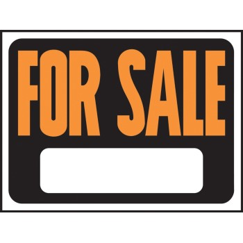For Sale Sign, Plastic 9 x 12 inch
