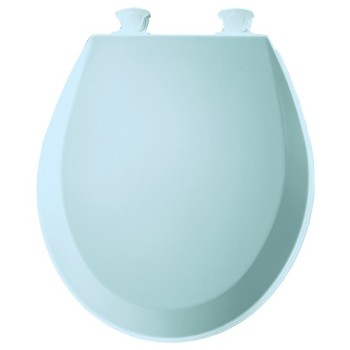 Toilet Seat, Round Molded Wood ~ Dresden Blue