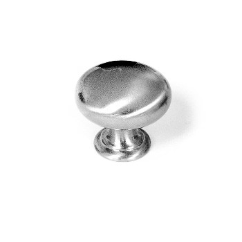Cabinet Knob, Smooth Satin Nickel ~ 1.25""