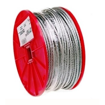 "Galvanized Cable 7 x 7 ~  1/16"" x 250 ft."