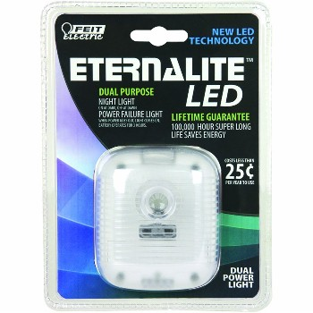 Night Light, Dual Power Eternalite ~ 2 Hr Battery