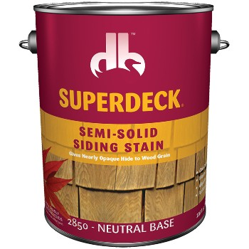 Semi-Solid Siding Stain, Neutral Base/Gallon