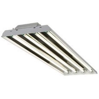 Fluorescent Ceiling Fixture,  4 Light ~ T8 Ballast