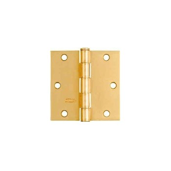 Buy The National 142794 Satin Brass Square Corner Door Hinge 512 3 1 2 Inches At Hardware World