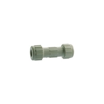 PVC Compression Coupling, 1 1/4 inch