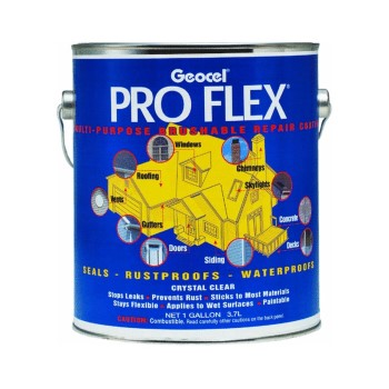 Pro Flex Roof Sealant, Clear ~ One Gallon