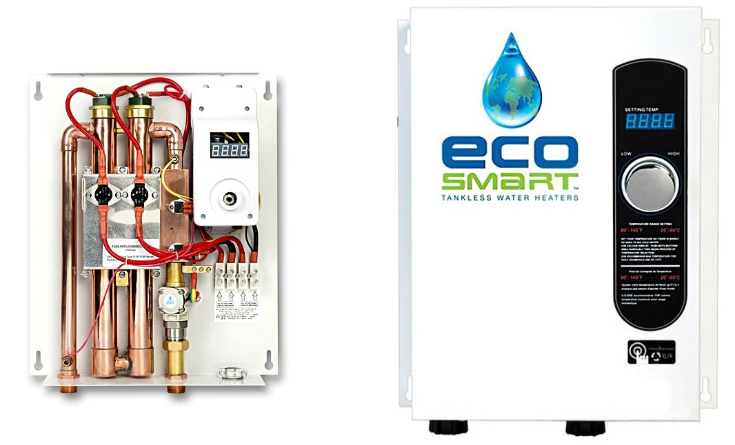 buy the ecosmart green energy eco 18 tankless water heater, electric