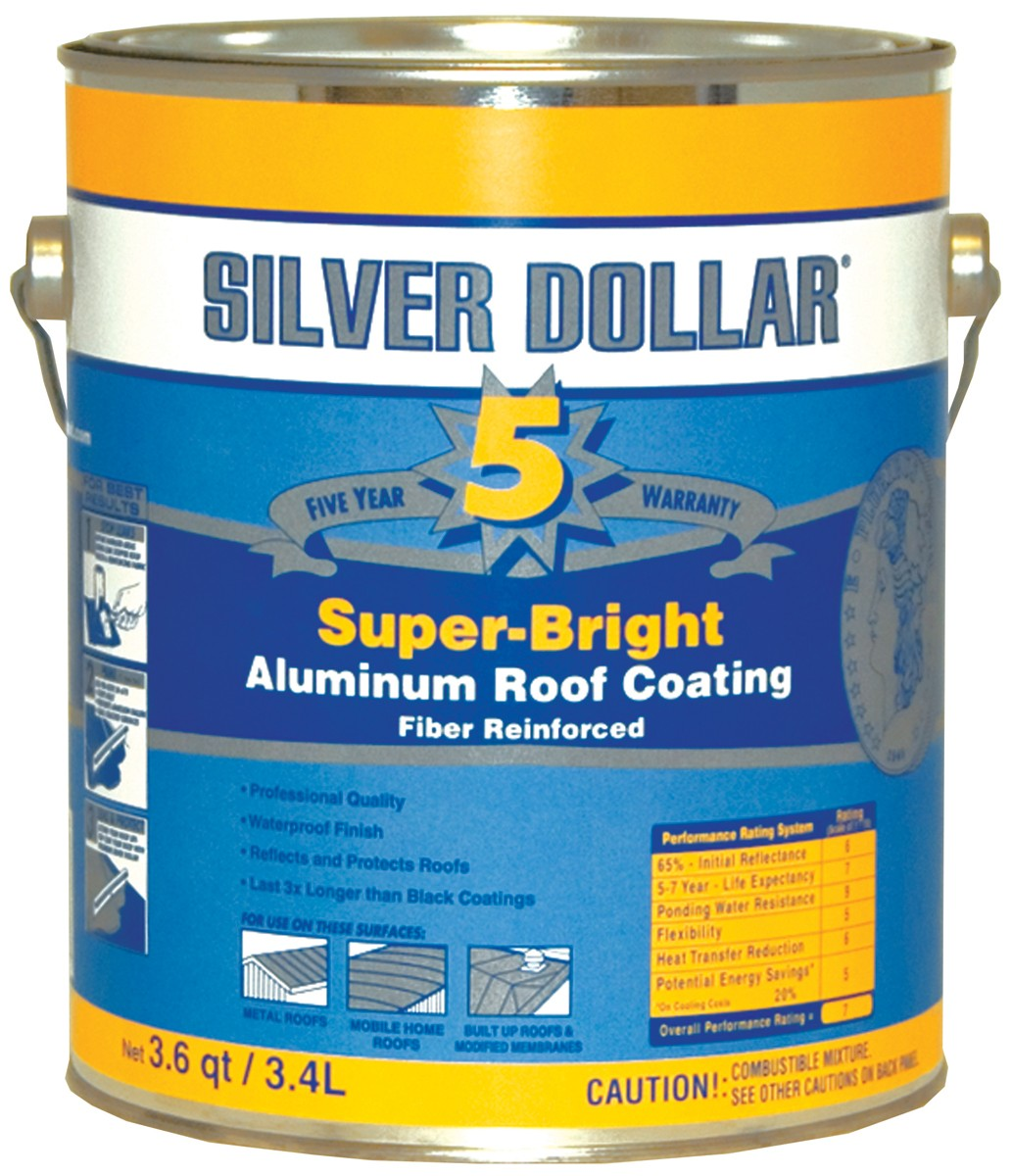 Premium Fibered Aluminum Roof Coating ~ Gallon. View Larger Image