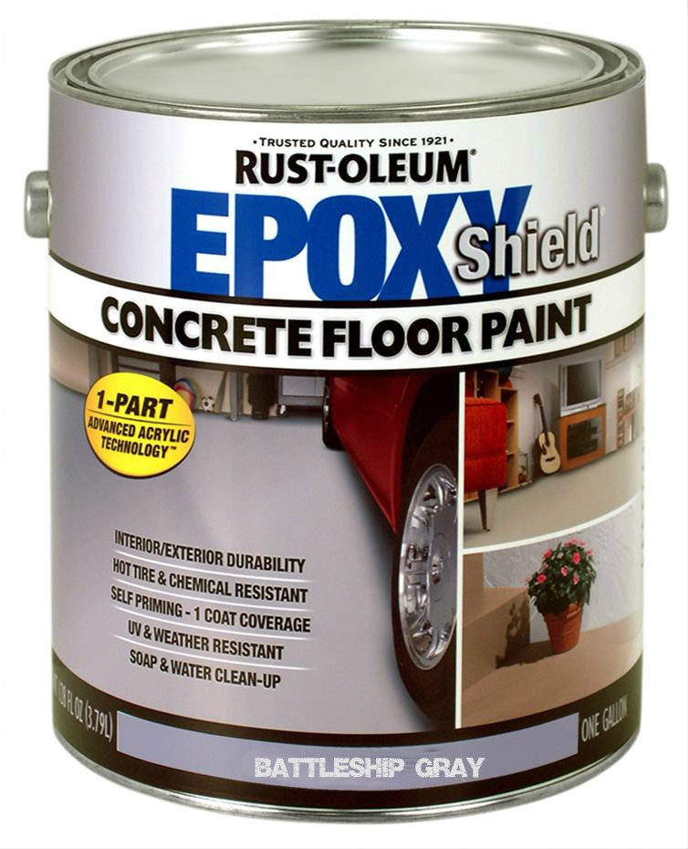 Buy The Rust Oleum 225380 Concrete Floor Paint Battleship