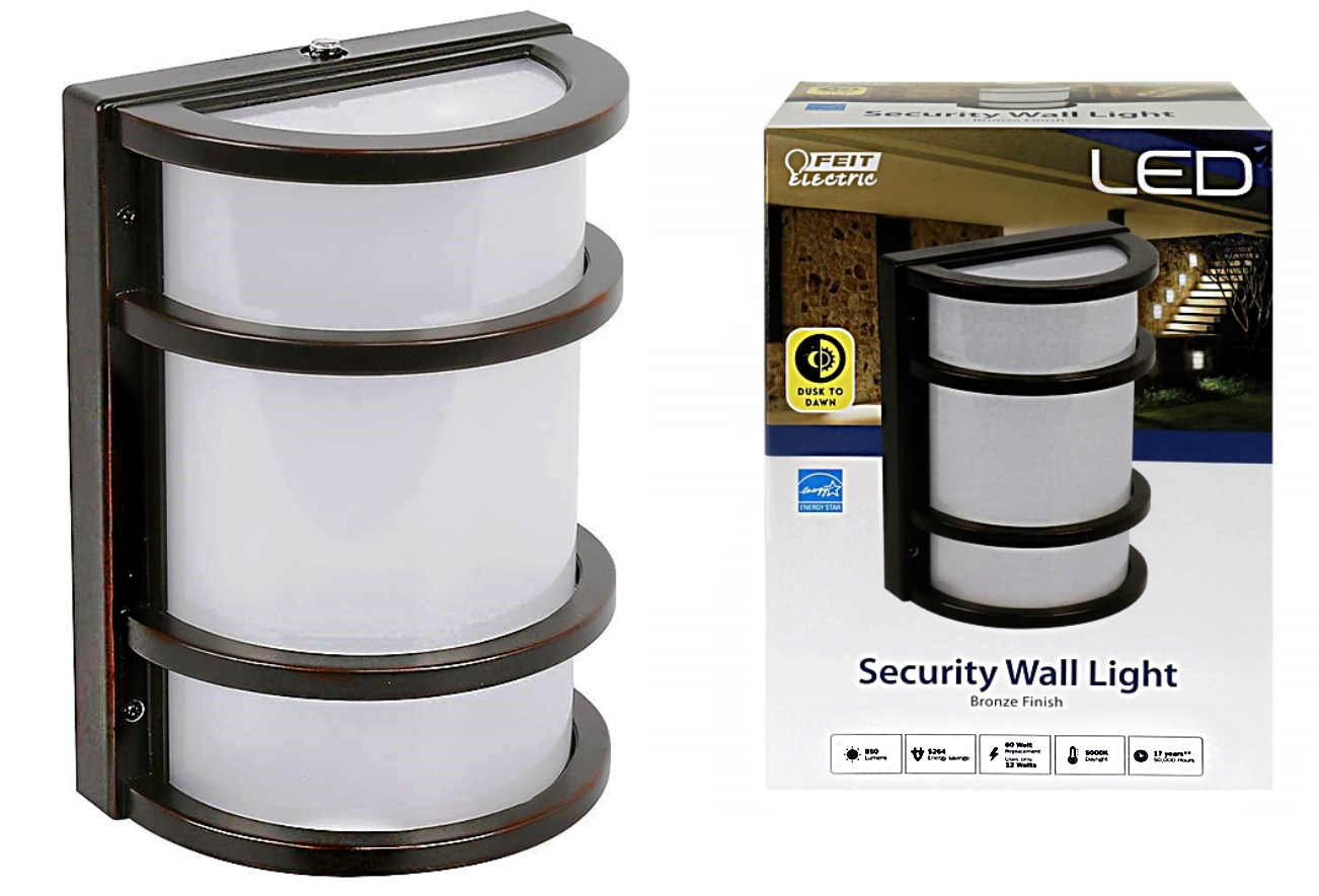 Buy The Feit Electric 73702 Dusk To Dawn Led Wall Security